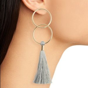 gorjana carmen ring tassel earrings 18K goldplated